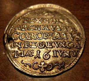 Hungary 1647 Ferdinand IV House of Habsburg Silver Token Holed