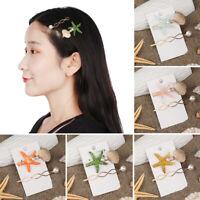 Fashion Women Pearl Hairpins Starfish Hair Clips Shell Barrettes Girl Hairgrip