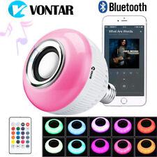 VONTAR Bluetooth LED Control Music Audio Speaker RGB Smart Bulb Light Lamp NEW