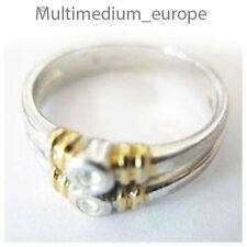Pierre Lang Ring massiv vergoldet signiert Strass Steine