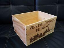 Un vin français en bois Caisse Boîte Planteur entraver / tiroirs / stockage & lt3