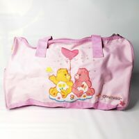 Care Bears Duffle Bag 16x9x9 Pink Friendship Love-a-Lot Bear Luggage Travel