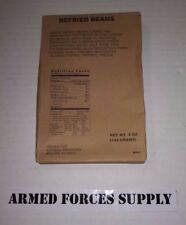 MILITARY MRE SIDE REFRIED BEANS EMERGENCYBCAMPING HUNTING EMERGENCY SURVIVAL