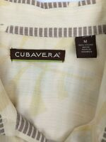 Cubavera Men's Size M Button Front Hawaiian Short Sleeve Shirt Viscose Rayon