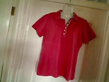 AUTHENTIC BURBERRY CORAL SHORT SLEEVE T-SHIRT POLO SIZE  XXL  10 - 12