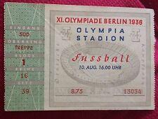 billet ticket JO jeux olympiques Berlin 1936 olympic game Italie Norvège foot