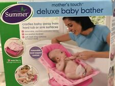 Summer Infant Pink Deluxe Baby Bather Folding Bath Sling - GREAT CONDITION