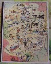 Carte de France Illustrées d'après Pinchon Orléans Chasse Bourges Montargis
