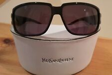 sunglass Ysl black frame Lents dark purple unisex brand new 2138s made in Italy