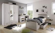 Kinderzimmer-Set LUCA Jugendzimmer komplett 4tlg Pinie weiß