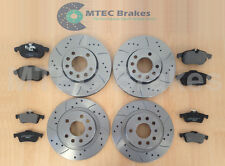 Saab 9-3 1.9 TiD DRILLED BRAKE DISCS Front Rear & Pads