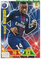 260 BLAISE MATUIDI PARIS SAINT-GERMAIN PSG CARTE CARD ADRENALYN 2018 PANINI