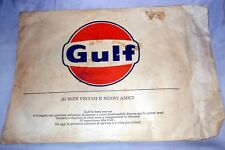 """Busta vuota pubblicitaria della """"GULF"""" originale anni 50-60 misure 30x40"""