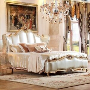 New European-Style Master Bedroom Luxury Bed Wood French Court Furniture House