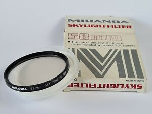 Miranda 58mm Skylight Filter With Keeper Case, Boxed, Opened Never Used