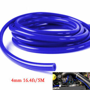 Car Engine 4mm Silicone Vacuum Tube Hose Silicon Tubing 16.4ft 5 Meters Kit New