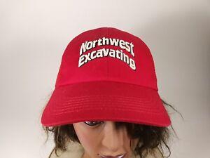 Northwest Excavating Red Trucker Hat Ball Cap