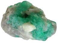 esmeralda natural en bruto sobre cuarzo y pirita 40 grs