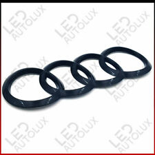 New Black Gloss Rear Back Badge Rings Logo Emblem Audi A7 200x70 ABC Plastic