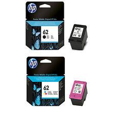 2018/2019 Expiration Genuine Set of HP 62 Ink ENVY 5661 5663 5664 7640 7644 7645