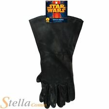 Mens Adult Darth Vader Gloves Star Wars Halloween Fancy Dress Costume Accessory