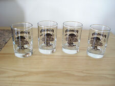 Four FRIENDLY DODGE CHRYSLER JEEP 5 oz Shot Glasses CRYSTAL CITY BREW FESTIVAL