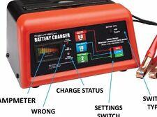 10/2/50 Amp 12V Battery Charger Jump Engine Starter Car/Truck/Riding Mower/Boat
