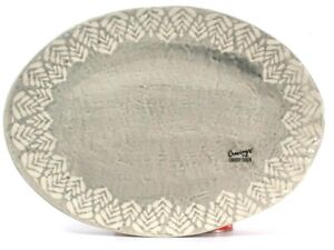 "Cravings By Chrissy Teigen 15.7"" Stoneware Oval Platter Dishwasher & Micro Safe"
