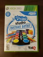 UDraw Studio Instant Artist Microsoft Xbox 360 Game Only with Manual Clean Disc