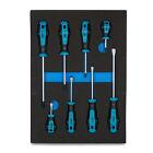 Capri Tools Kontour Screwdriver Set, 8-Piece with The Mechanics Tray