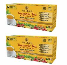2 x Hyleys Turmeric Tea Assortment, 42 teabags each