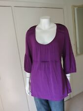 M & S Per Una Speziale Purple Floaty Tie back Top Size 20