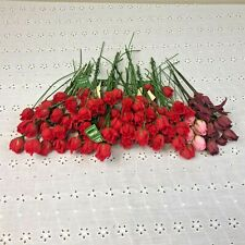 Lot of Vtg CAFI Roses Floral Millinery Flower Stems Bouquet Spray