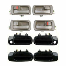 For 92-96 Toyota Camry DH71 4 Brown Inside & 4 Black 202 Outside Door Handle Set