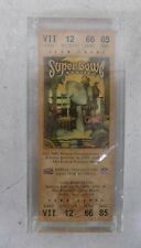 Super Bowl XXXIII 1999 Broncos-Falcons Club Level Ticket FLAWLESS in Case LOOK