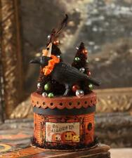 Bethany Lowe Halloween Party Crow on Box Container AUTHORIZED DEALER