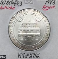 AUTRICHE - 50 SCHILLING 1973 - Pièce de Monnaie en Argent // TTB