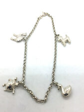 with Animals 9.75 8.70g. Solid 925 Sterling Silver Anklet