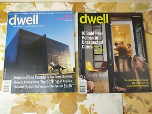 2 Dwell Magazine Back Issues Lot 2000 1st Premier Issue Oct October + Dec Home
