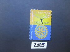 Australian Stamps: 2005 Centenary of Rotary INternational P&S used