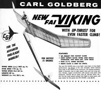 "Model Airplane Plans (FF): FAI Viking 65"" Wingspan for .15 by Carl Goldberg"