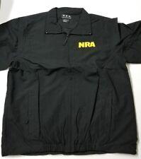 NRA National Rifle Association Eagle WindBreaker/Jacket Size Large BLACK