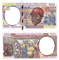 UNC GABON 5000 Central African Francs (1997) P-404Lc
