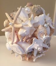 XO Bouquets Bride Throw Bouquet Sea Shells Bridesmaid Mermaid