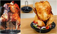 BBQ GRILL VERTICAL CHICKEN BEER ROASTER ROASTING PAN
