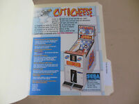 CUT THE CHEESE  SEGA    ARCADE   GAME  FLYER