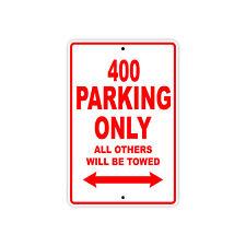KTM 400 Parking Only Towed Motorcycle Bike Chopper Aluminum Sign