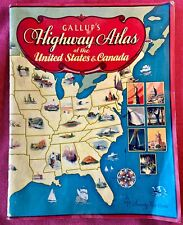 New ListingVintage 1931 Gallup's Highway Atlas of the United States & Canada