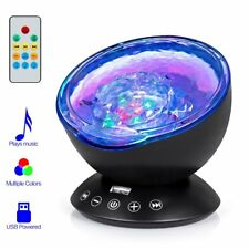 Ocean Wave Projector Night Light Music Player Color Changing Remote Control Kids