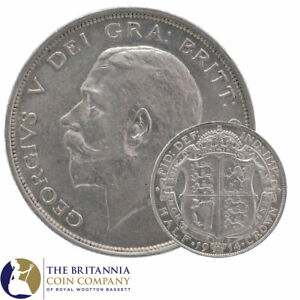 1911 to 1919 KING GEORGE V STERLING SILVER HALF CROWN - CHOOSE YOUR YEAR!